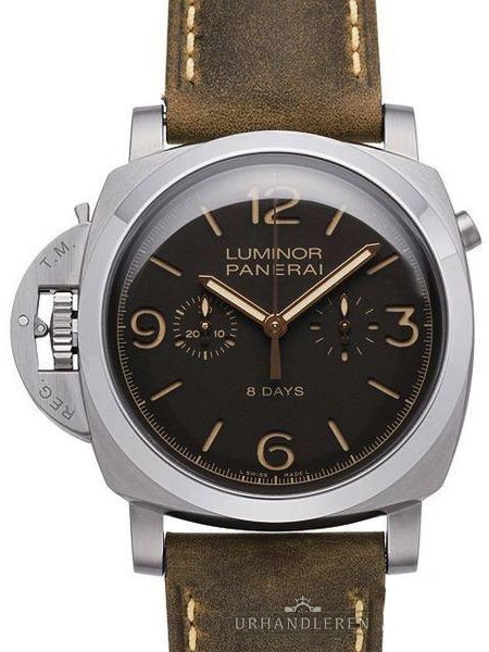 Panerai Luminor 1950 Chrono Monopulsante Left-Handed 8 Days Titanio