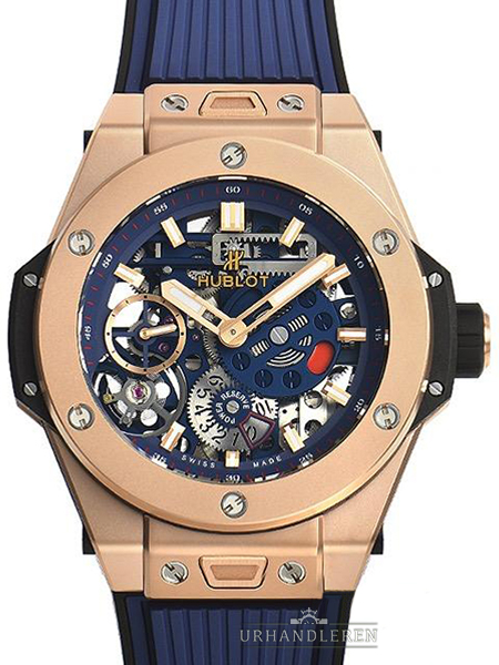 Hublot Big Bang Meca-10 King Gold blau