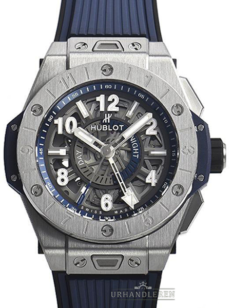Hublot Big Bang Unico Gmt Titan blau Keramik