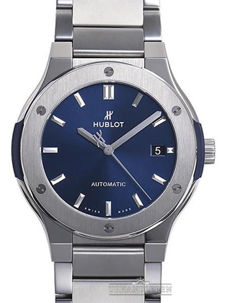 Hublot Classic Fusion blau Titan Bracelet