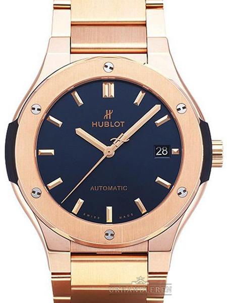 Hublot Classic Fusion blau King Gold Bracelet