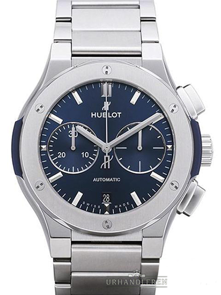 Hublot Classic Fusion blau Chronograph Titan Bracelet