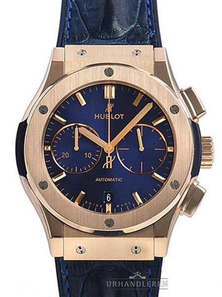 Hublot Classic Fusion blau Chronograph King Gold