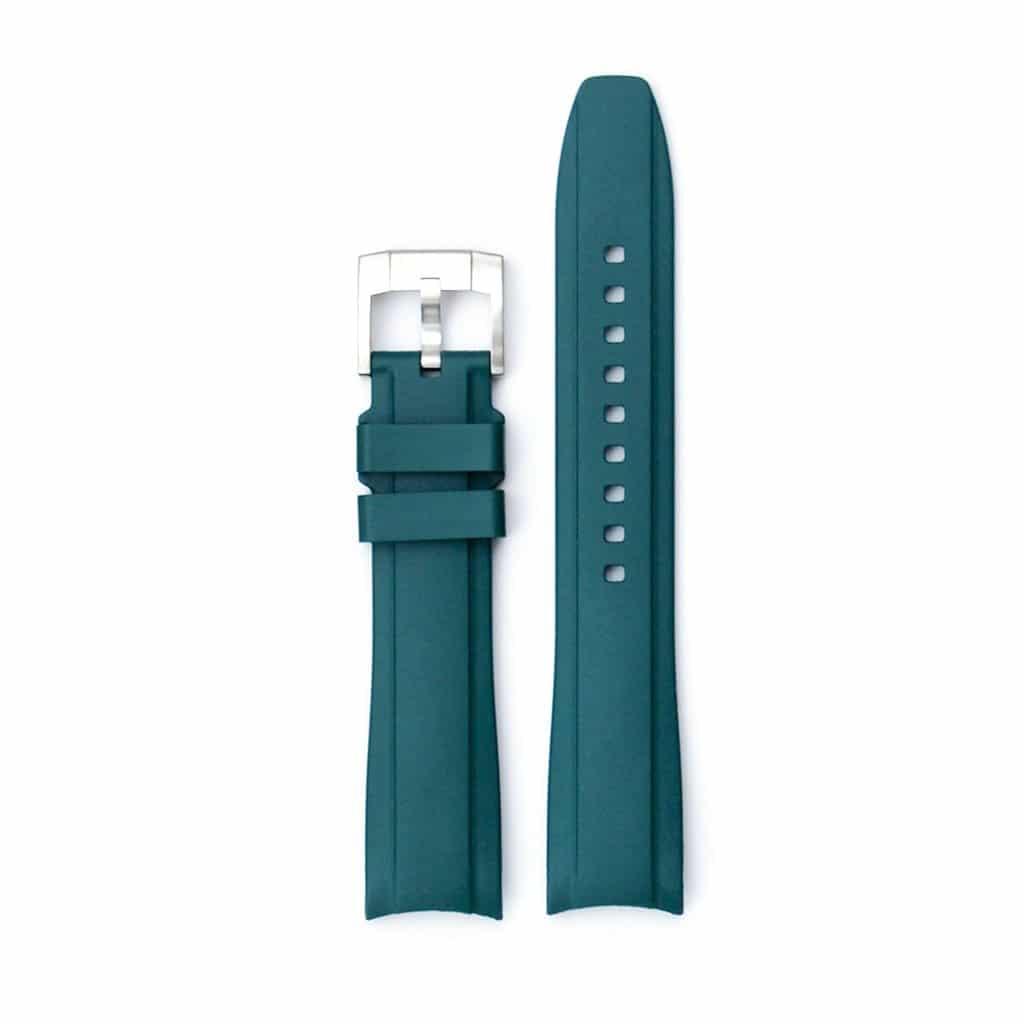 Everest Kautschukarmband mit Schließe für Rolex Sea-Dweller 4000 - Green