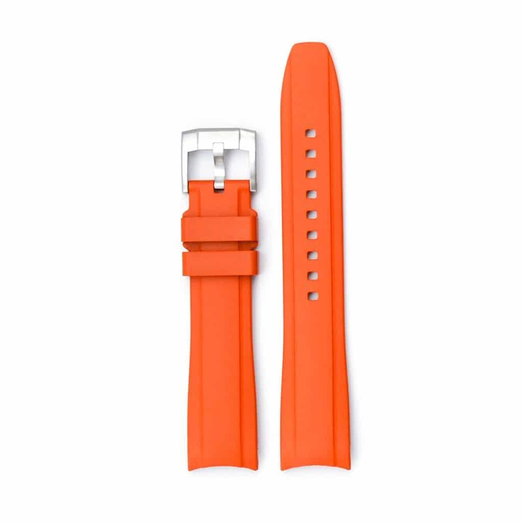 Everest Kautschukarmband mit Schließe für Rolex Sea-Dweller 4000 - Orange