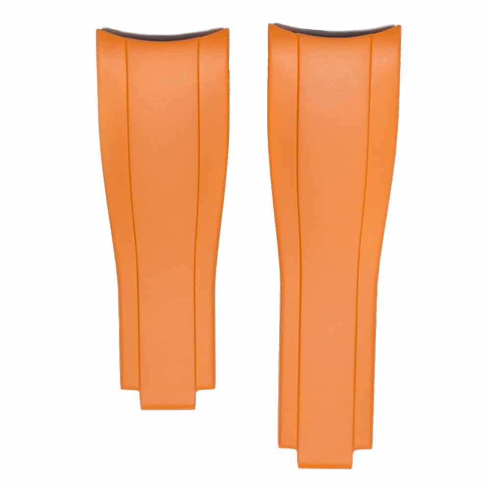 Everest Kautschukarmband für Faltschließe für Rolex Sea-Dweller 4000  - Orange