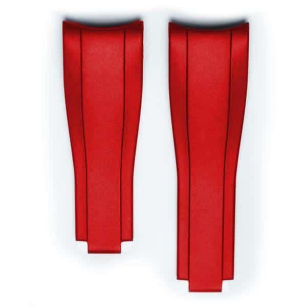 Everest Kautschukarmband für Faltschließe für Rolex Sea-Dweller 4000  - Red