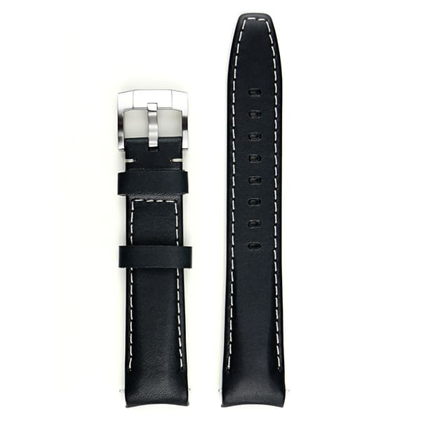 Everest Lederarmband mit Schließe - Black/White