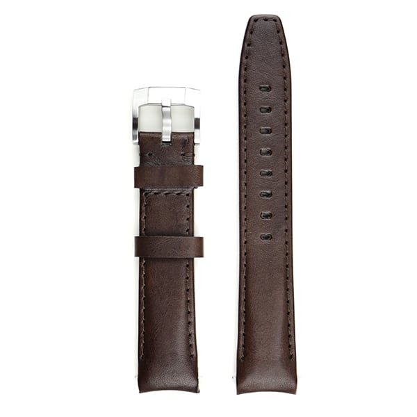 Everest Lederarmband mit Schließe - Chocolate Brown