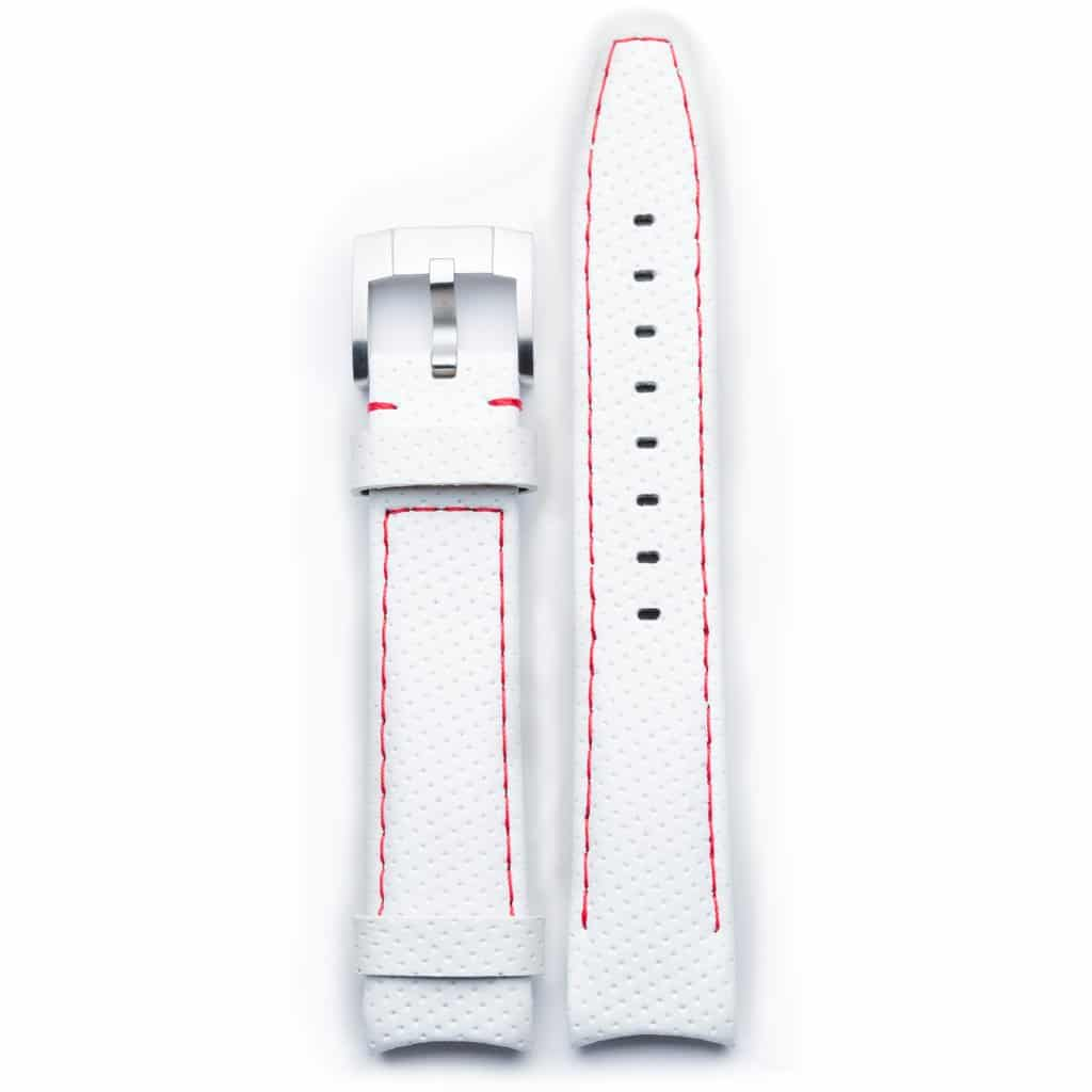 Everest Lederarmband mit Schließe- White/Red