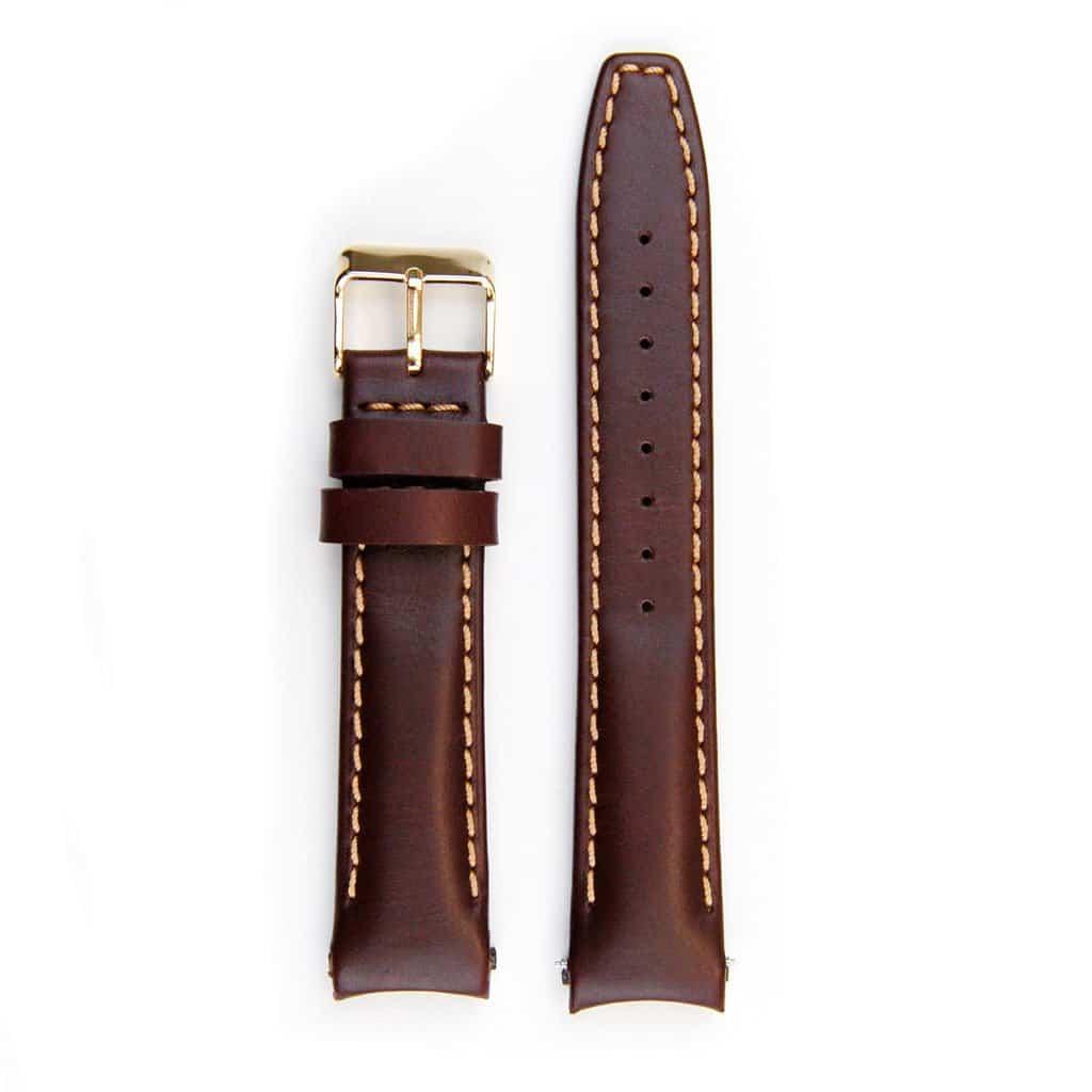Everest Lederarmband mit Schließe für Rolex Datejust - Vintage Brown
