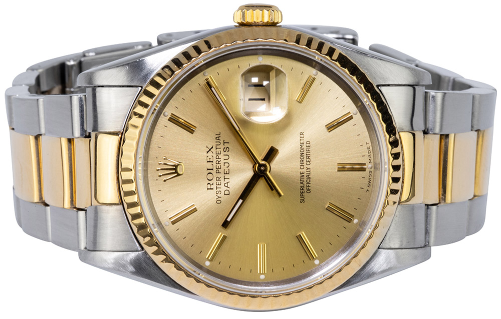Datejust 36 Stahl/Gold Champagner Oyster