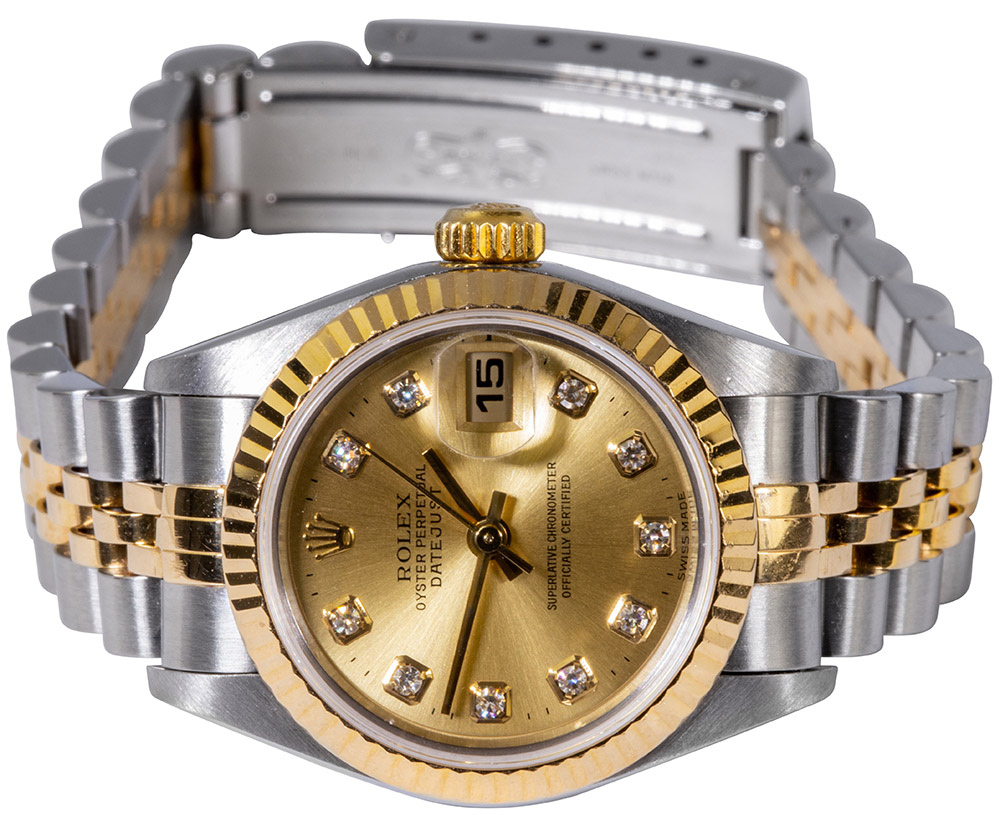 Rolex Lady-Datejust 26 , dia dial, champagner, jubilee