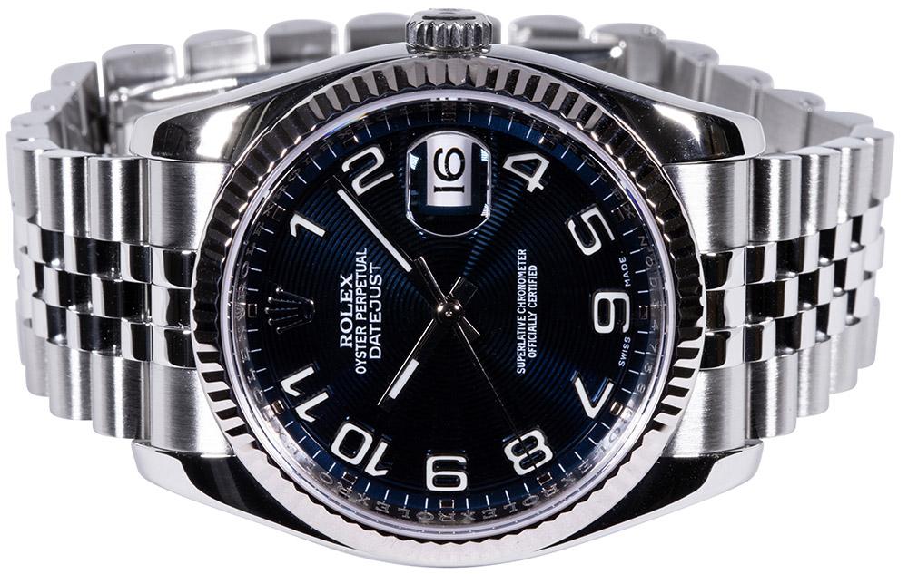 Rolex Datejust 36mm 116234, blue dial, Jubilee