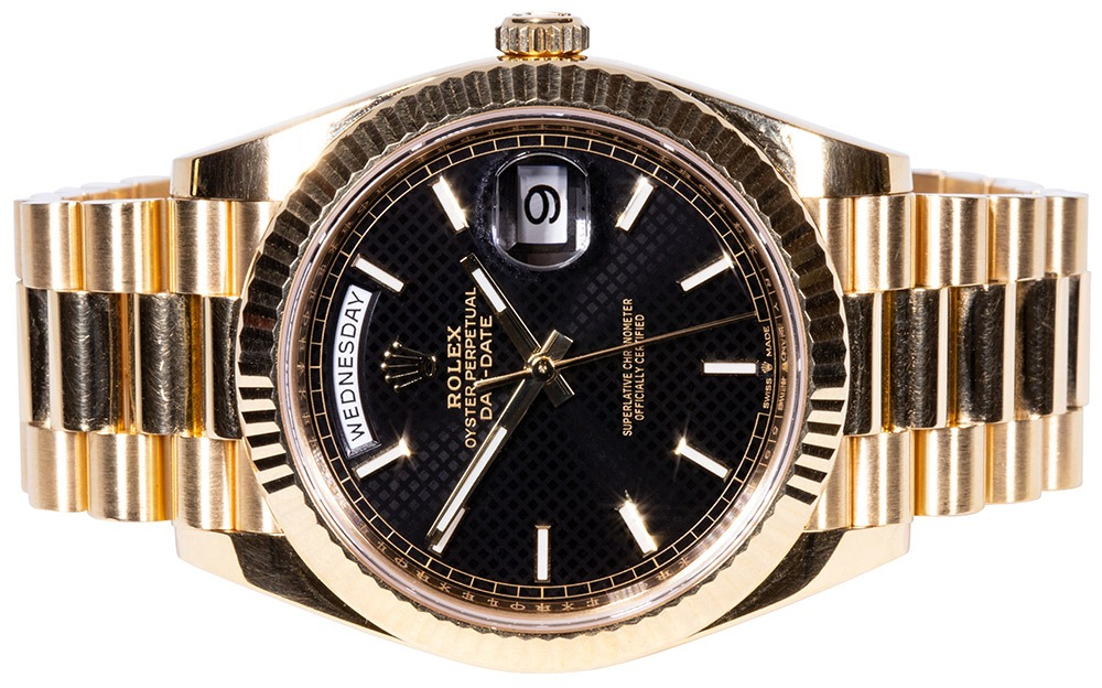 Rolex Day-Date 40 black dial