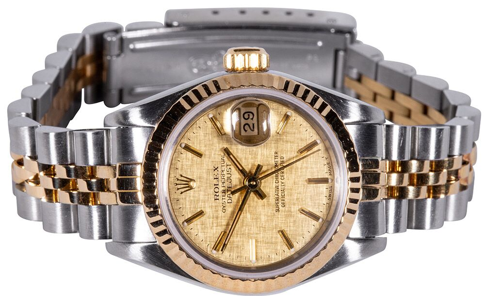 Rolex Lady-Datejust 26 mm champagner index Jubilee