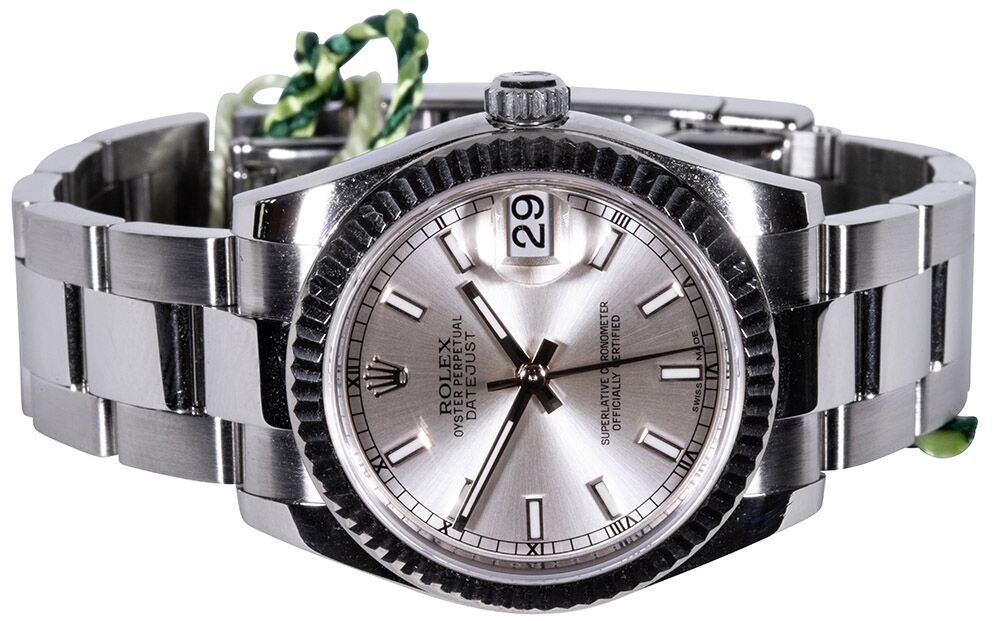 Rolex Lady-Datejust 31mm silber index oyster