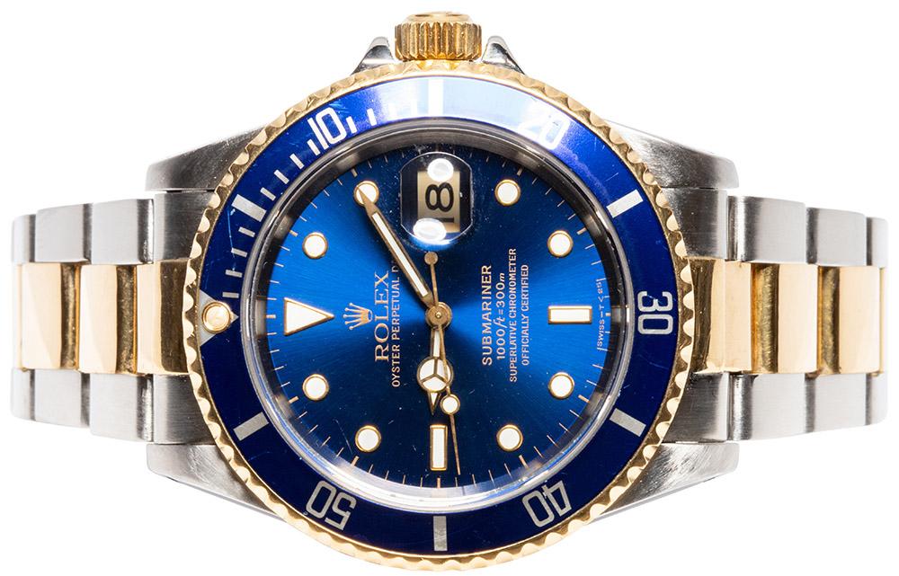 Rolex Submariner, Blau