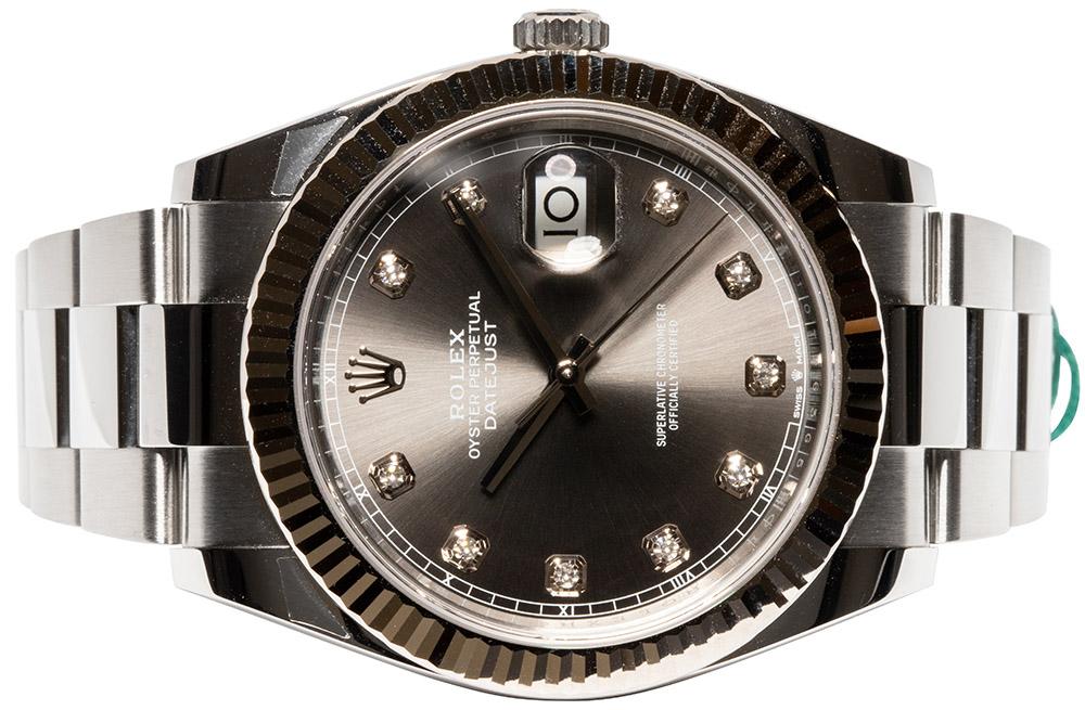 Rolex Datejust 41 Rhodium Diamant Oyster