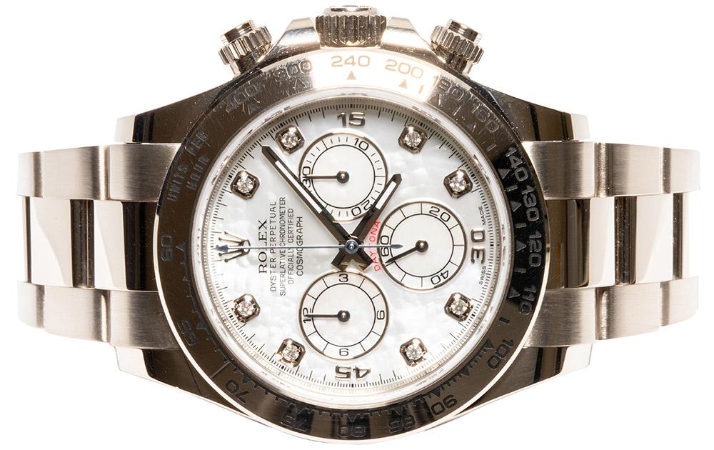 Rolex Daytona Cosmograph, weiß MOP dia