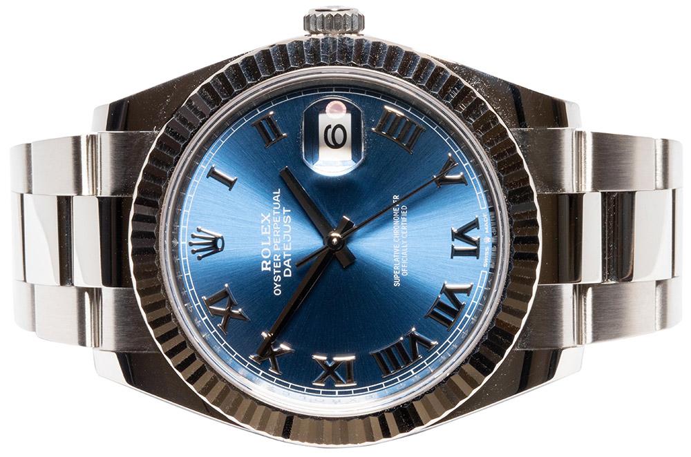 Datejust 41 Blau römisch Oysterband