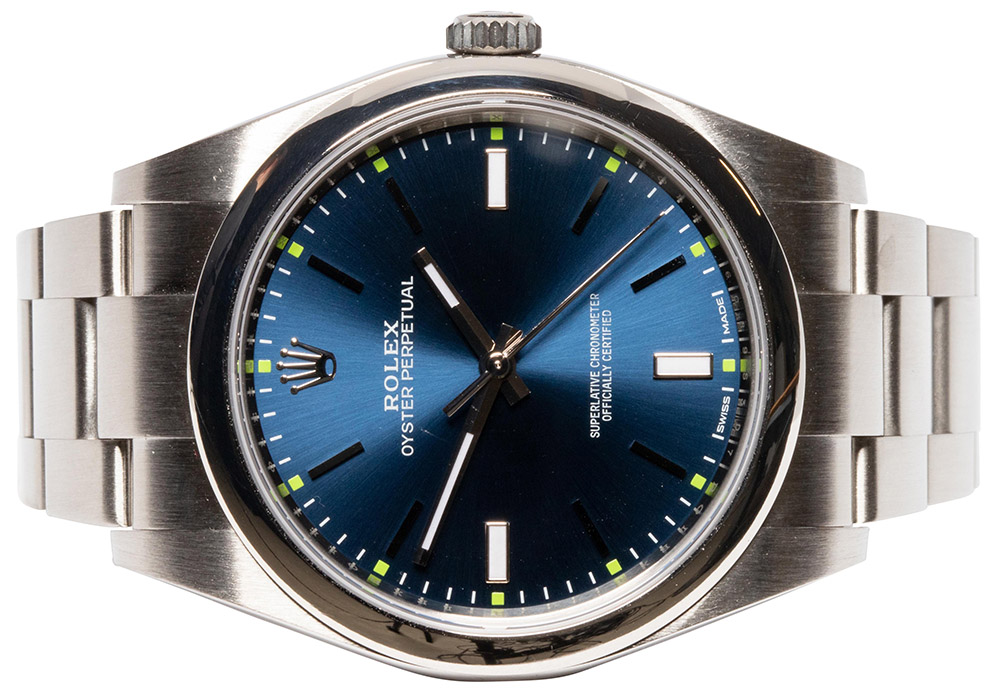 Rolex Oyster Perpetual 39, blue dial