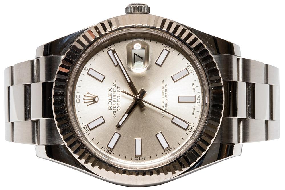 Rolex Datejust II, silber index Oyster