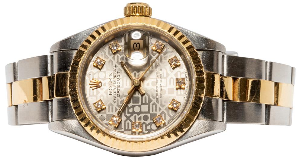 Rolex Datejust 26mm Oyster, Jubileeblatt, Diamant