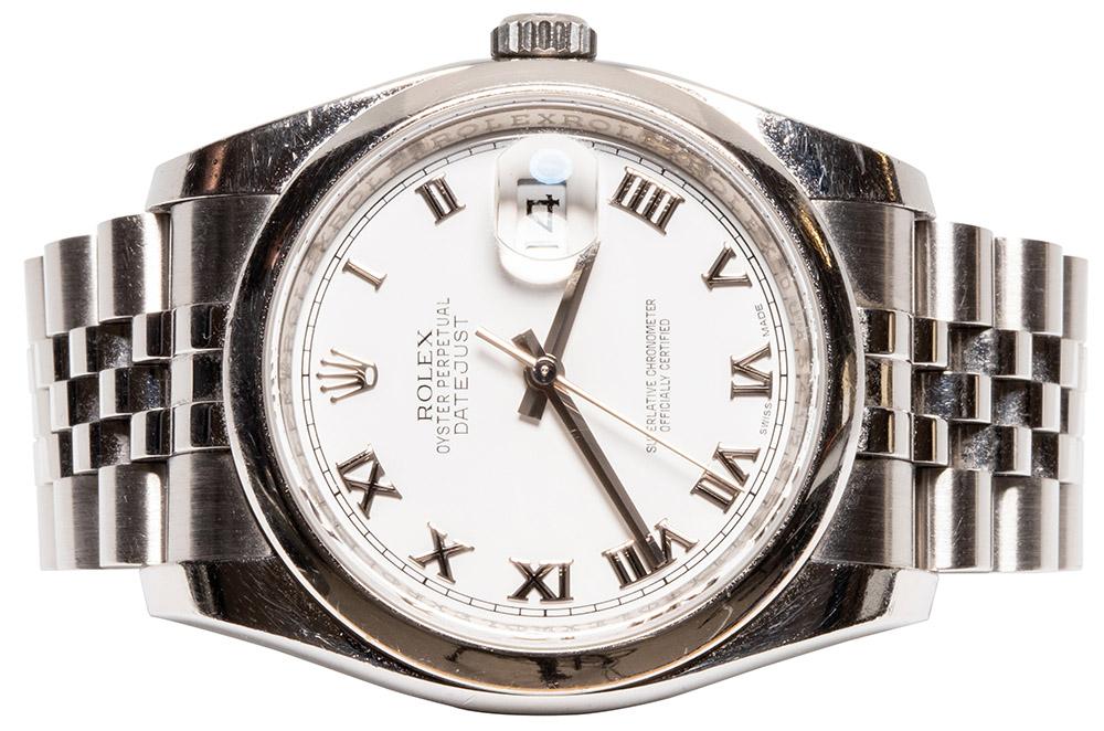 Rolex Datejust weiß römisch Jubilee
