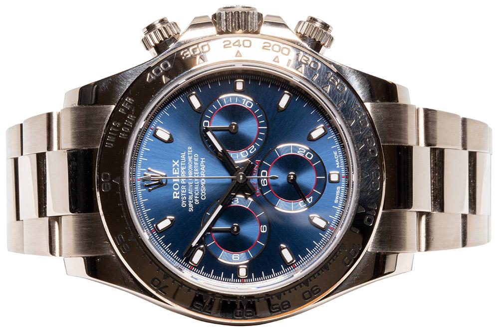 Rolex Daytona Weißgold blue dial