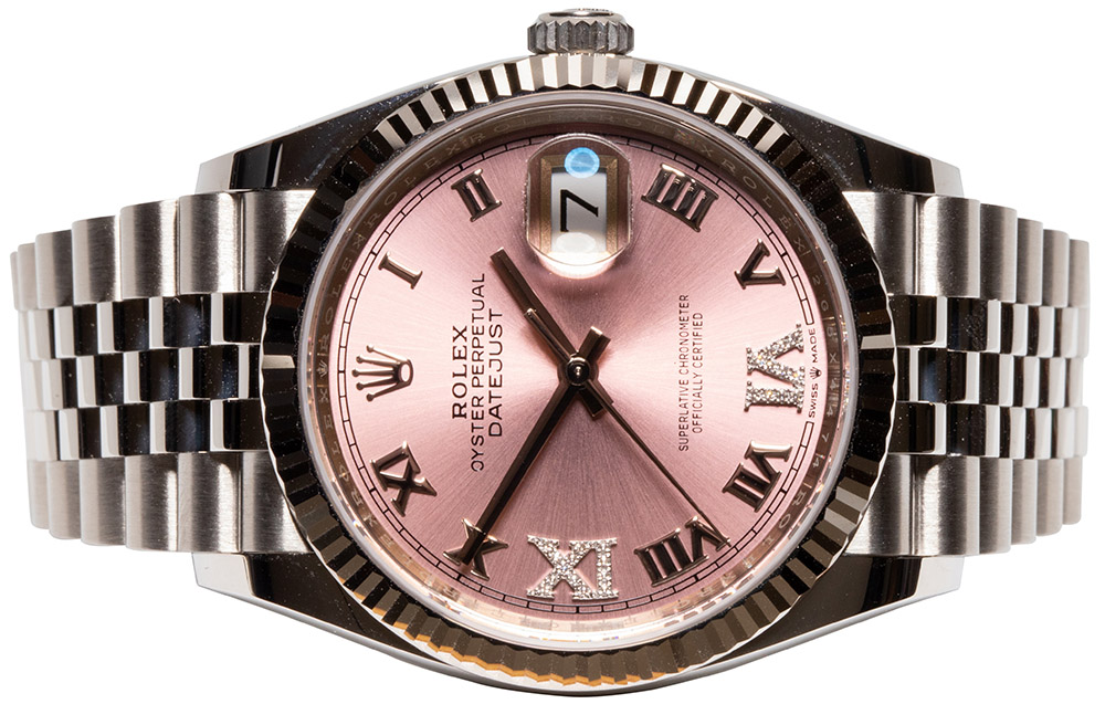 Rolex Datejust 36 pink dia dial jubilee