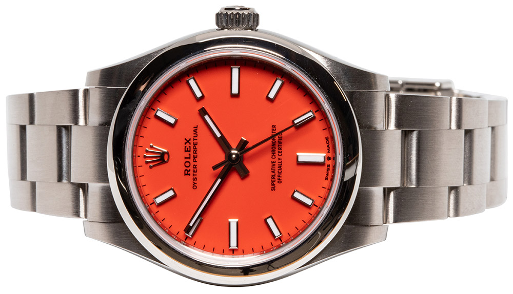 Rolex Oyster Perpetual 31mm coral red
