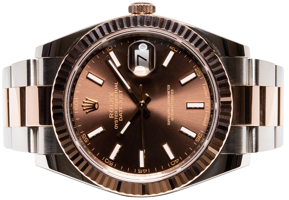 Rolex Datejust 41, Choko, Index, Oyster
