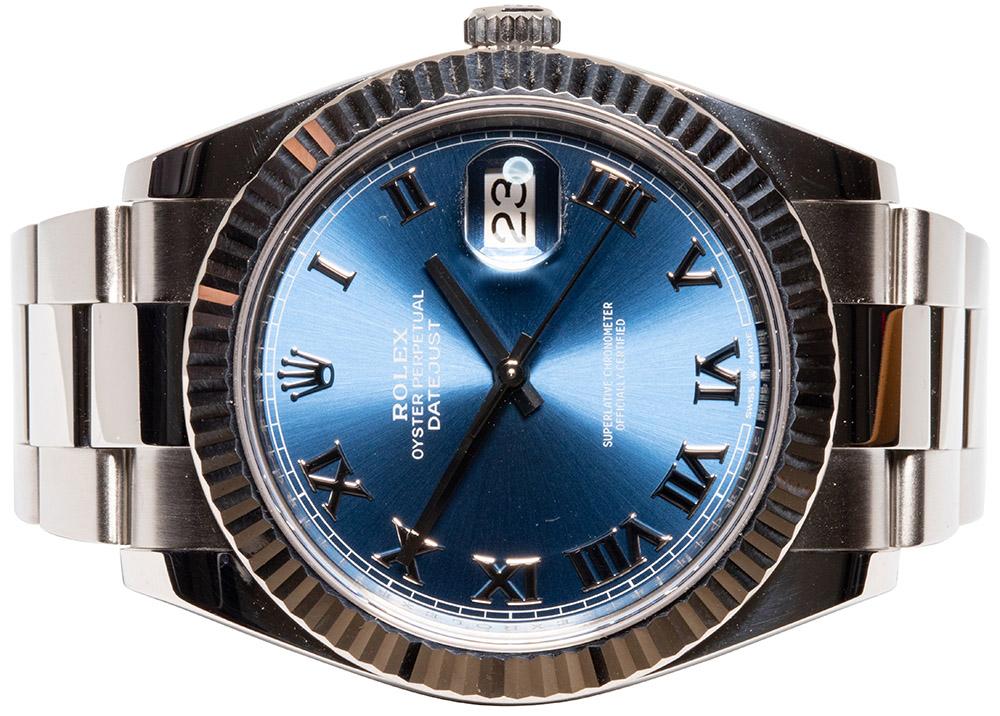 Rolex Datejust 41, Azurblau römisch, Oysterband