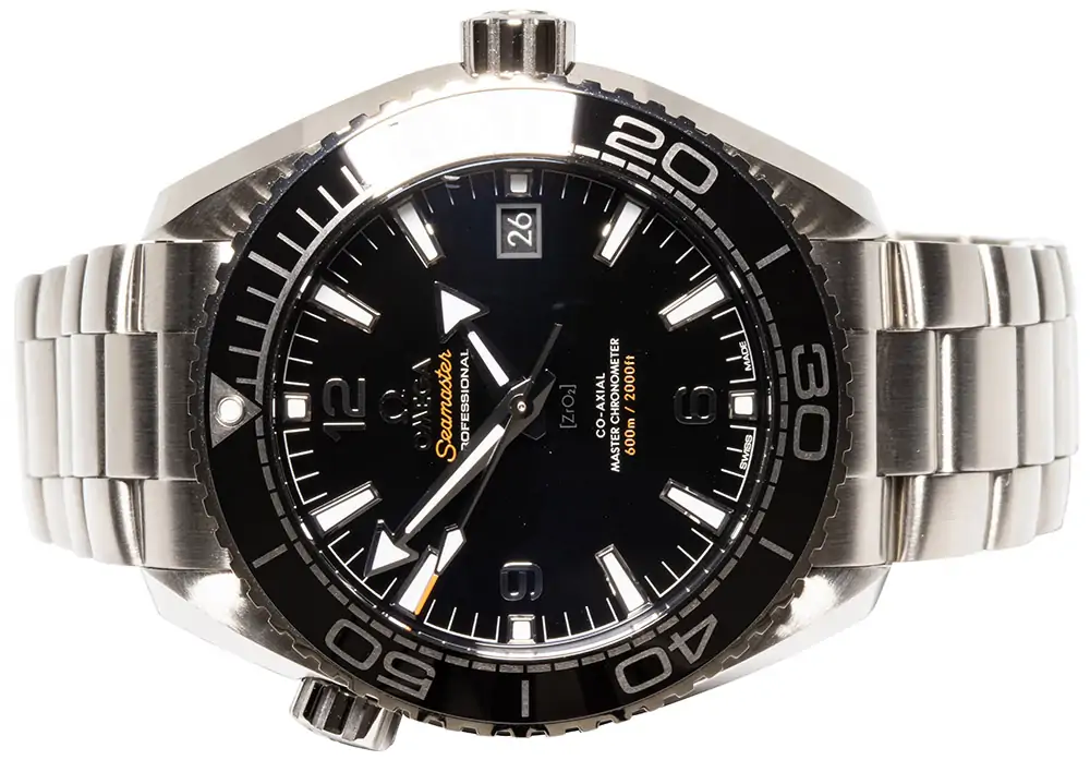 Omega Seamaster Planet Ocean 600 M Schwarz / Stahl 43,50 mm