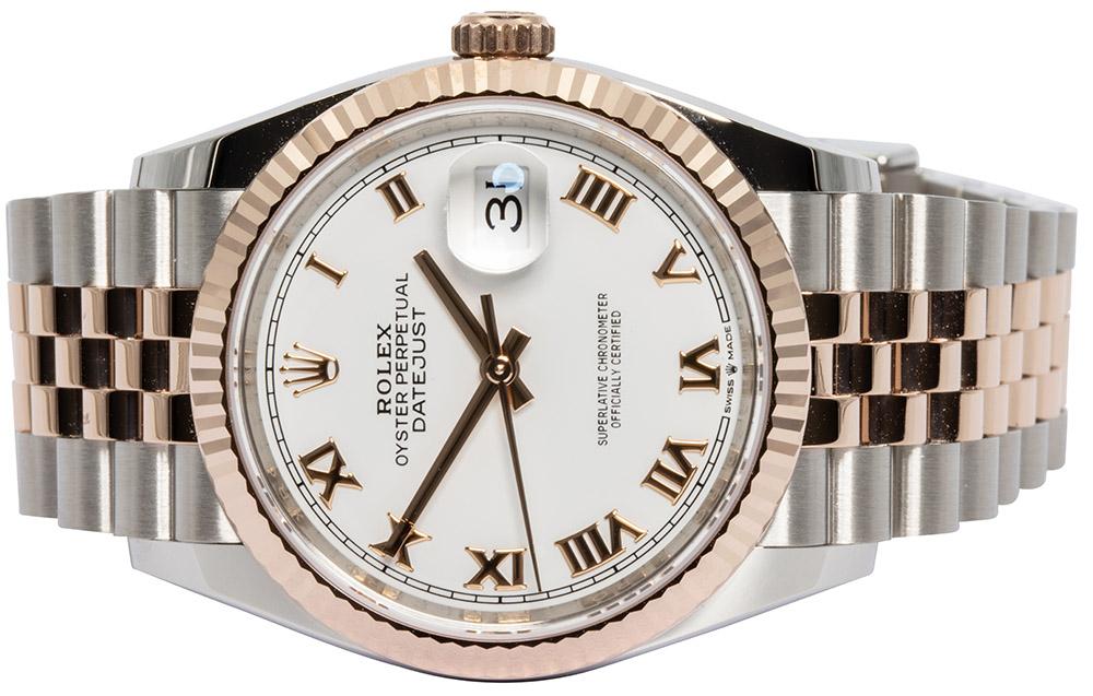 Rolex Datejust 36mm weiß Index Jubilee