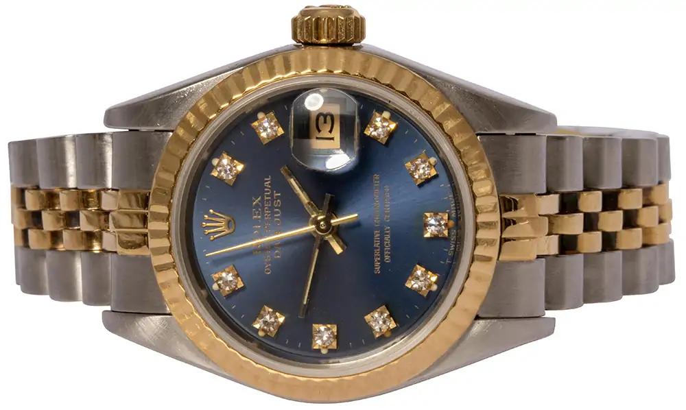 Rolex Lady-Datejust blue diamond dial jubilee 26mm