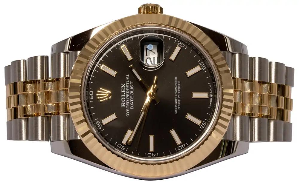 Rolex Datejust 41 black index jubilee