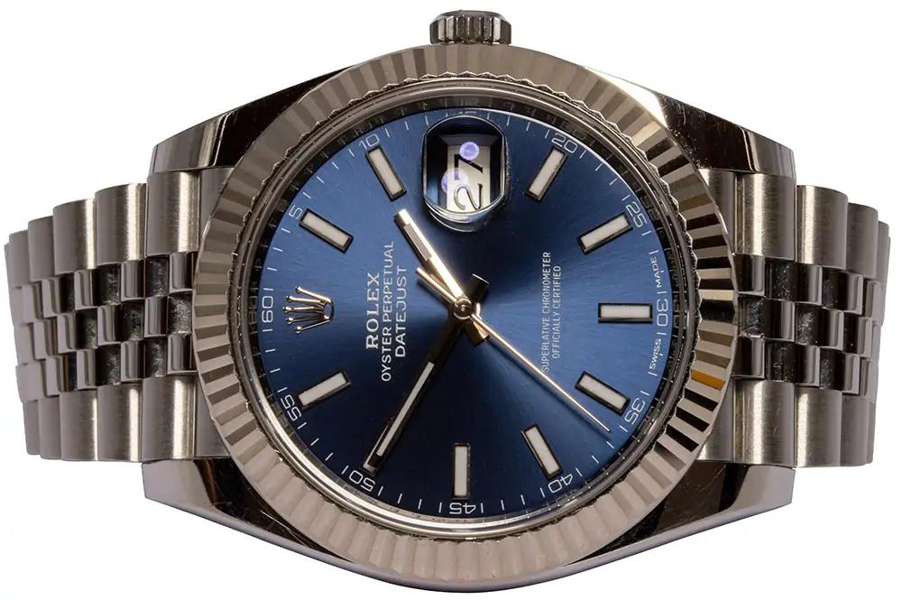 Rolex Datejust 41 blue index jubilee