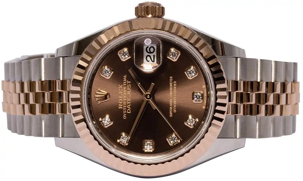 Rolex Lady-Datejust 28, Choc, Diamant, Jubilee