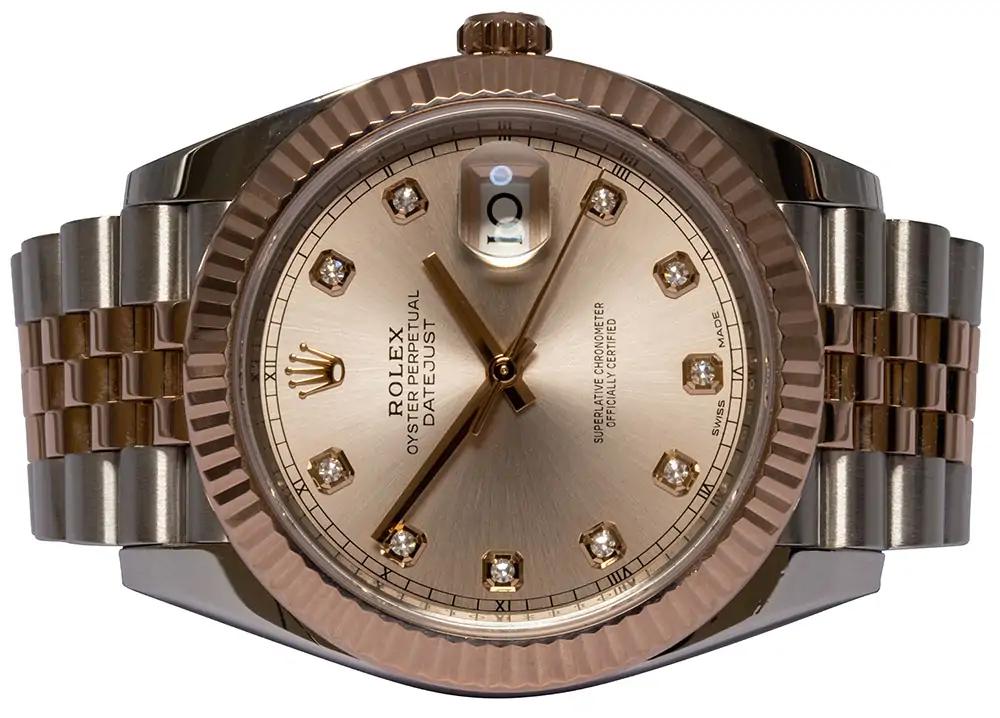 Rolex Datejust 41, Sundust, Diamant, Jubilee