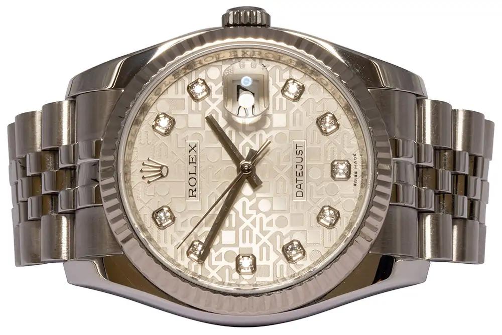 Rolex Datejust 36MM, Jubilee, Diamant